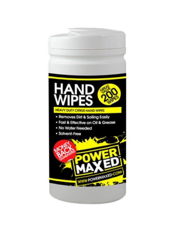 PowerMaxed Heavy Duty Citrus Hand Wipes