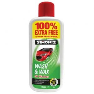 SIMONIZ WASH AND WAX 100% EXTRA FREE