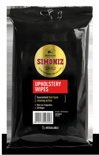 SIMONIZ UPHOLSTREY WIPES 20X6