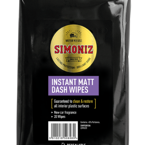 SIMONIZ NEW DASHBOARD CAR MATT WIPES 20X6