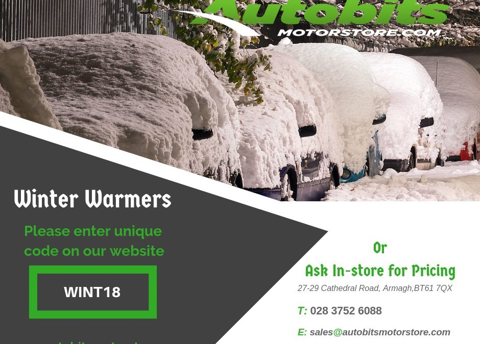 Check out our range of Winter Warmer Specials