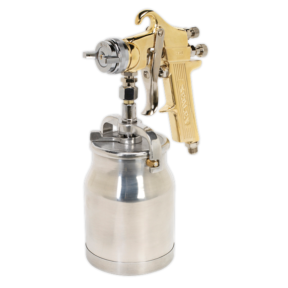 Sealey Spray Gun Professional Suction Feed 1.8mm set up