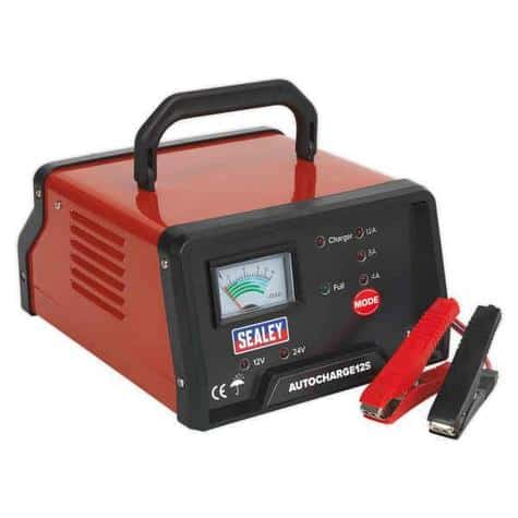 Sealey SMC14 Battery Charger Compact Auto Maintenance 9-Cycle 12V