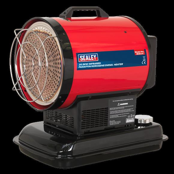 Sealey Infrared Paraffin/Kerosene/Diesel Heater 20.5kW 230V